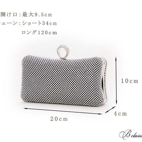 クリアストーンリングハードクラッチバッグ(r19001)