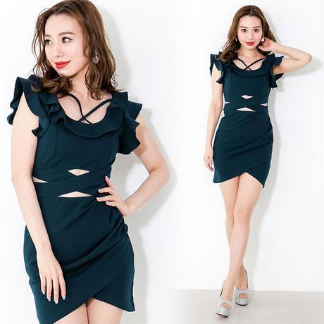 ダブルフリルミニタイトドレス(h18005)