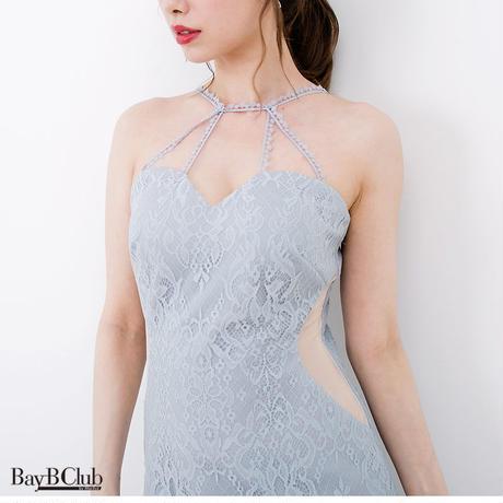 サイドシースルーレースミニタイトドレス(h115)
