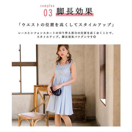 【S~3Lサイズ】レースシフォンドレス(nt17010)