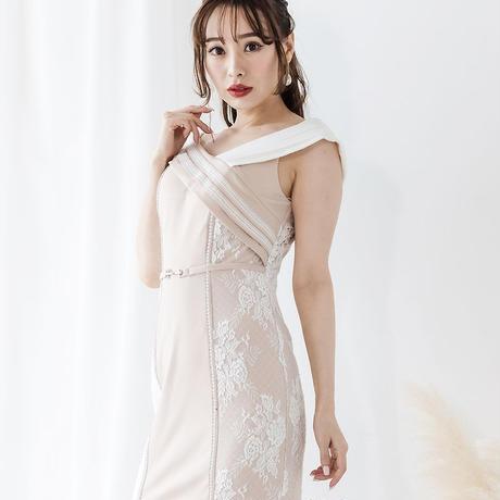 サイドレースオフショルミニタイトドレス(h146)
