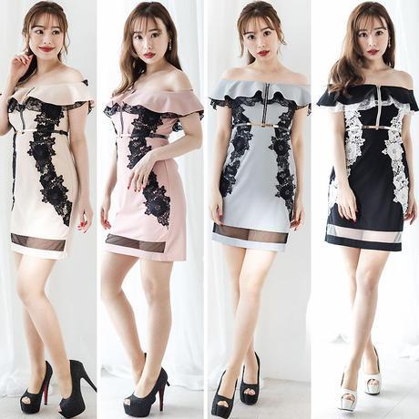 オフショルダーミニタイトドレス(e19015)