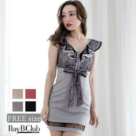 フリルリボンミニタイトドレス(a20022)