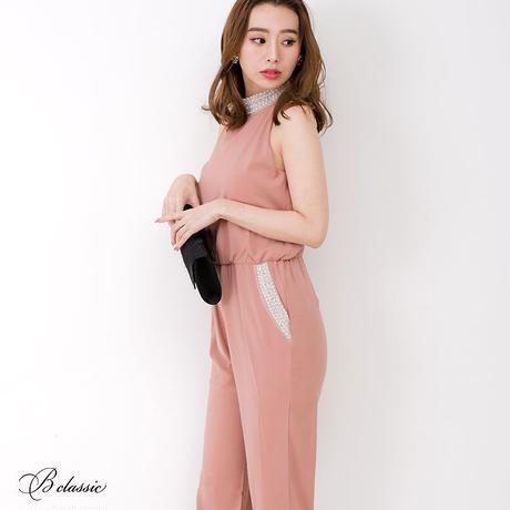ハイネックビジューパンツドレス(c19004)