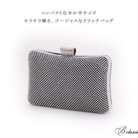 クリアラインストーンハードクラッチバッグ(r17003b)