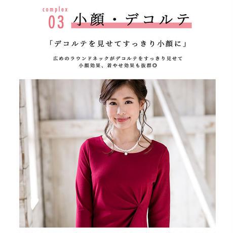 【S~3Lサイズ】フロントタックプリーツ長袖ワンピース(h17021)