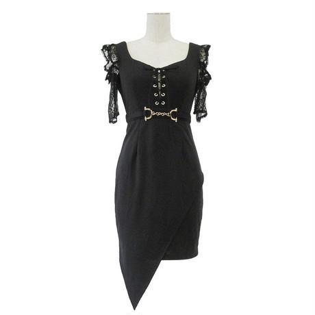 オフショルレーススリーブミニタイトドレス(f20011)