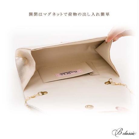 シャイニーラメプリーツクラッチバッグ(h097)