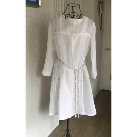 麻の着物による単衣のコート