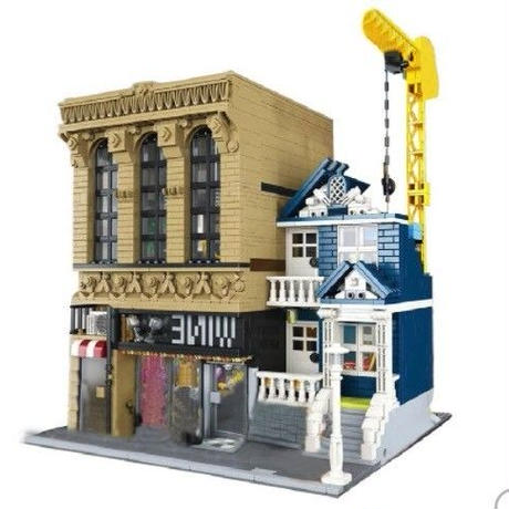 LEPIN レゴ互換 クリエイター ストリート バーと金融会社 教育ブロックおもちゃ 2841ピース 15035