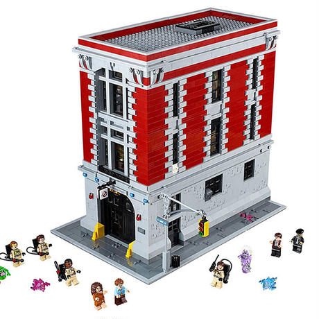 【送料無料!】LEGO(レゴ)互換 16001 4705ピース ゴーストバスターズHQ(消防署本部)75827風 モデルセット 建物キット 【新品】
