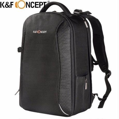 【送料無料!】K&F CONCEPT 大容量カメラバックパック トラベルバッグ サイドコンパートメントカメラ用三脚ホルダー付き 【新品】