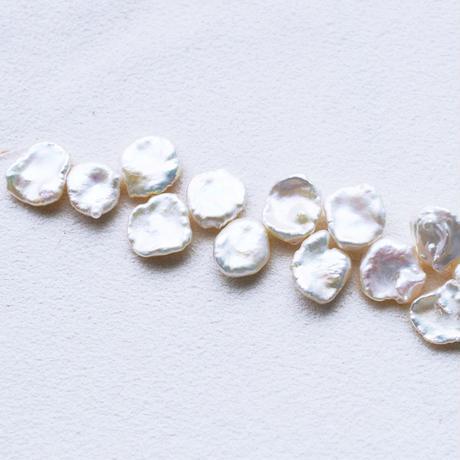 淡水パール  ケシ ホワイト  13~14mm  10cm