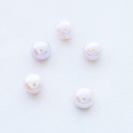 淡水パール  エッグ ピンク  丸フラットサークル 11~12mm 【2個】