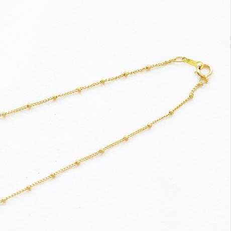 K14/20GF チェーン 喜平+ビーズ 45cm 1本 ゴールドフィルド