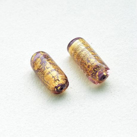 【全3色】ベネチアン 円筒 10.5×25mm Gフォイル 1個