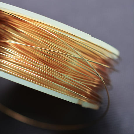 K14/20GF ラウンドワイヤー φ0.41mm ハード 50cm ゴールドフィルド