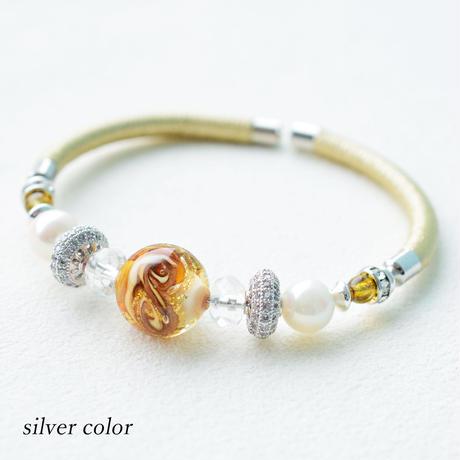 ベネチアン × アコヤ本真珠 バングルブレスレット【3本セット】