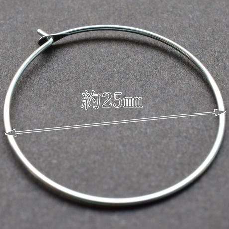 シルバー925 フープピアス25mm【3ペア】