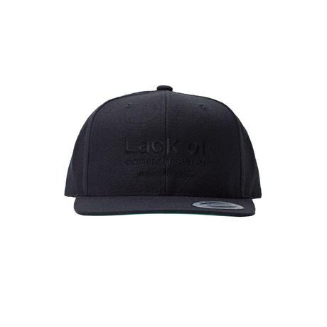 Lack of common sense Logo cap 【Monochrome Edition】