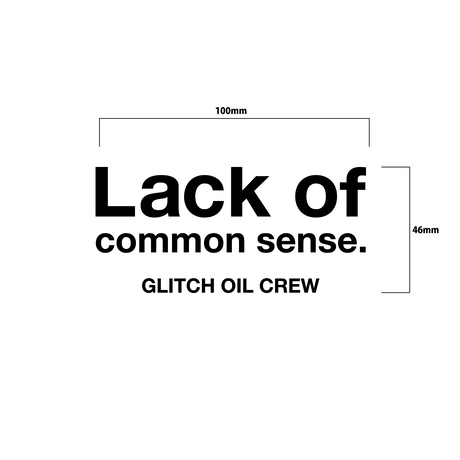 Lack of common sense Logo sticker【ロゴステッカー】