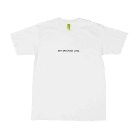 Lack of common sense Horizontal Logo T- shirt【 White 】