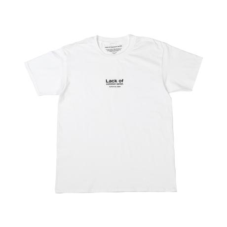 Lack of common sense Logo T- shirt【 White 】