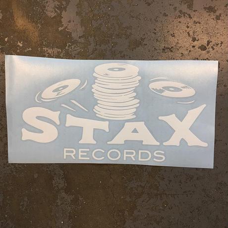 スタックス レコード・スタックス オブ ワックス・クラシック ロゴ ステッカー (ホワイト)