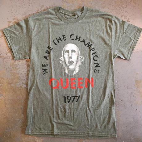 クイーン・伝説のチャンピオン 1977 T-シャツ ヘザーグリーン