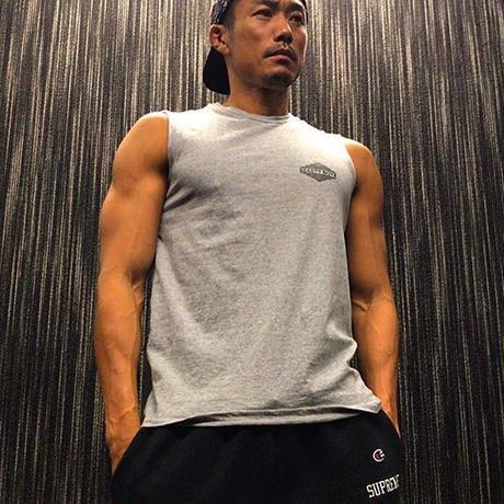 ロンバスロゴTシャツ      カラー:グレー  品番:0006