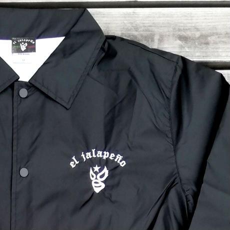 ルード テクニコ 胸刺繍 コーチジャケット ブラック