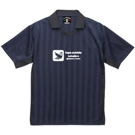 トペ ドライ サッカーシャツ ネイビー