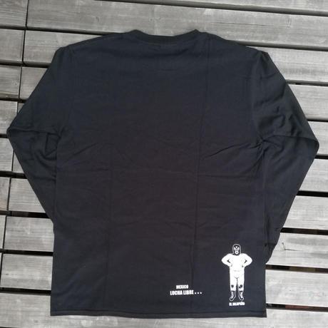 ウイスキー ロングスリーブTシャツ ブラック