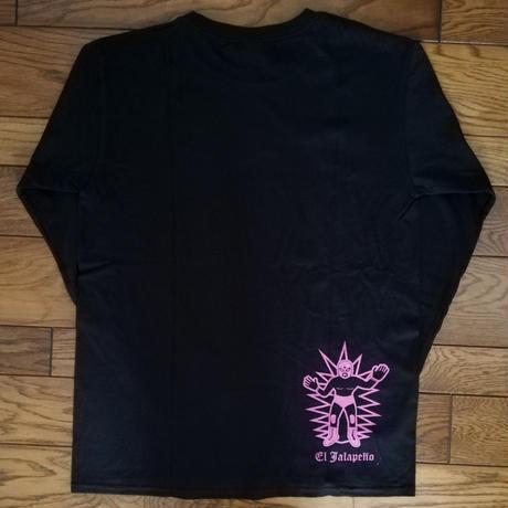 ルチャっす ロングスリーブTシャツ ブラック