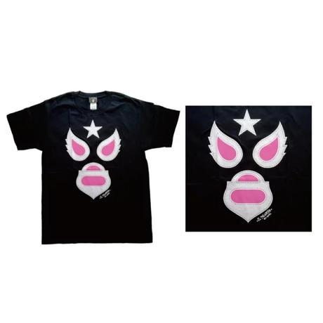 マスク1 Tシャツ ブラック ルチャリブレ