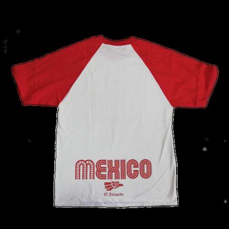 ルチャキング ラグランTシャツ ホワイト×レッド メキシコ
