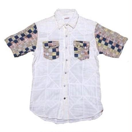 KAPITAL(キャピタル) パッチワークシャツ