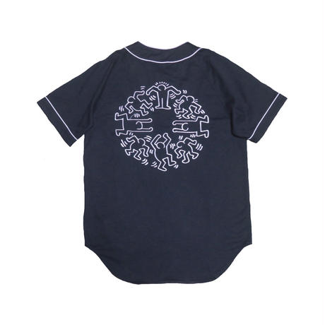 Keith Haring/BROWNY(キースへリング/ブラウニー) ベースボールシャツ