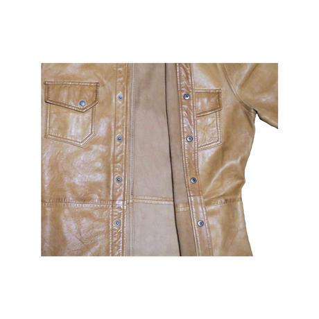 Nudie Jeans(ヌーディージーンズ) レザーシャツ②