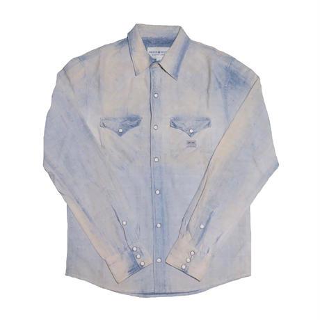 DENIM&SUPPLY Ralph Lauren(デニムアンドサプライ ラルフローレン) ブリーチ加工シャンブレーシャツ