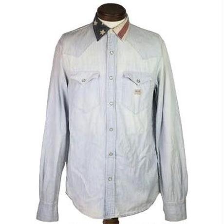 DENIM & SUPPLY(デニムアンドサプライ) USED加工シャンブレーシャツ