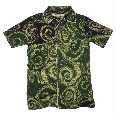 KAPITAL(キャピタル) 総柄 半袖 シャツ