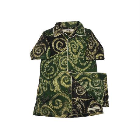 KAPITAL(キャピタル) 総柄半袖シャツ