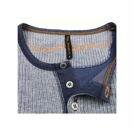Nudie Jeans(ヌーディージーンズ)  ヘンリーネックシャツ