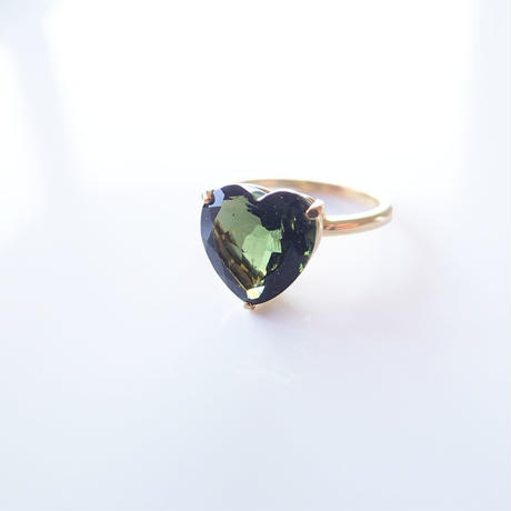Candy Heart Ring  (モルダバイト)