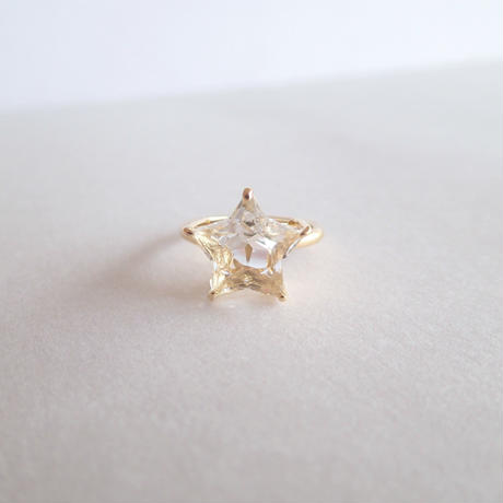 Etoile Ring L(クリアクォーツ/レモンクォーツ/ゴールドルチルクォーツ)