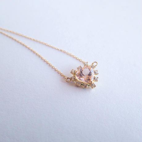 Sparkle heart pendant(モルガナイト)