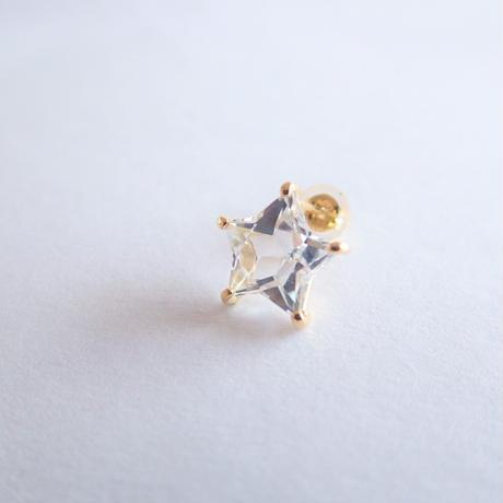 Etoile Earrings M (クリアクォーツ/レモンクォーツ)