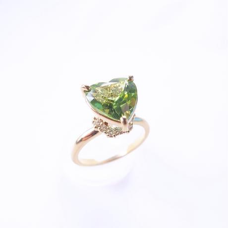 Grace Heart  Ring (ペリドット)