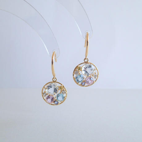 Water color earrings(Pastel)